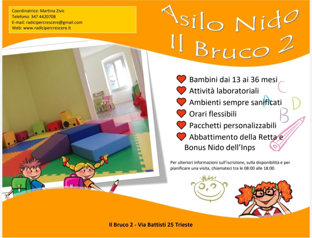 L'asilo è accreditato con il Comune di Trieste